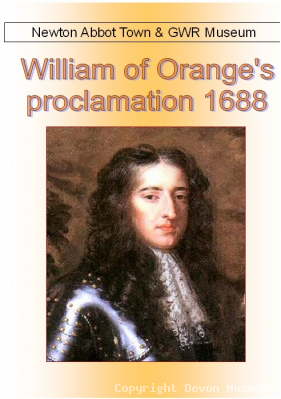 William of Orange's Proclamation 1688 Leaflet product photo